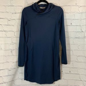 The North Face Stretch Navy Dress with Hood M